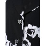 3/4 Sleeves Floral Print Flare Coat for sale