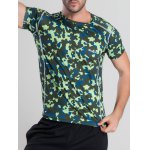cheap Quick-Dry Fitted Camouflage Printed Short Sleeve T-Shirt