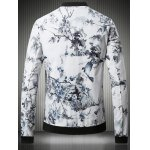 cheap Stand Collar Plus Size 3D Flower Chinese Painting Print Jacket