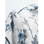 Stand Collar Plus Size 3D Flower Chinese Painting Print Jacket for sale
