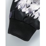 Stand Collar Plus Size 3D Flower and Bird Print Jacket photo