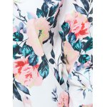 best Zippered Floral Print Splicing Jacket