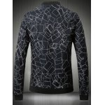 cheap Stand Collar Plus Size 3D Box Print Bomber Jacket