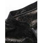 Stand Collar Plus Size Gloden Floral Jacquard Velvet Zip-Up Jacket deal