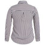 cheap Plus Size Striped Shirt