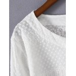 Plus Size Asymmetrical Embroidered Blouse deal