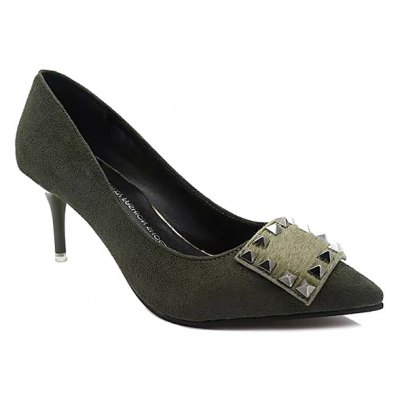 Rivet Pointed Toe Pumps