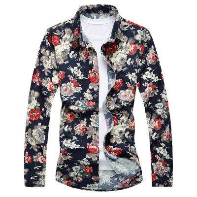 Floral Printed Long Sleeves Shirt