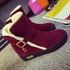 Belt Buckle Round Toe Snow Boots for sale