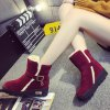 Belt Buckle Round Toe Snow Boots deal