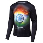 Fireworks Print Long Sleeves Round Neck T-Shirt