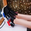 Color Block Lace-Up Suede Spliced Sneakers deal