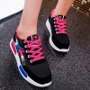 cheap Color Block Lace-Up Suede Spliced Sneakers
