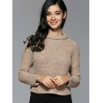 cheap Long Sleeve Ripped Cropped Sweater
