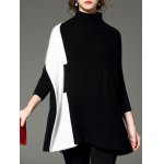 cheap High Neck Poncho Sweater
