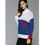Mock Neck Initial A Sweater for sale