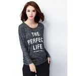 Loose-Fitting Letter Print T-Shirt deal