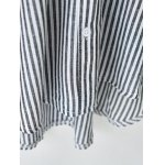 Bat Sleeve Lace Striped Blouse for sale
