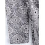 Plus Size 3D Flower Embellished Lace Dress photo