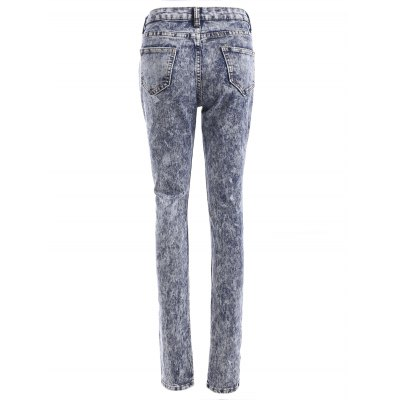 Fresh High Waisted Snow Wash Skinny Jeans