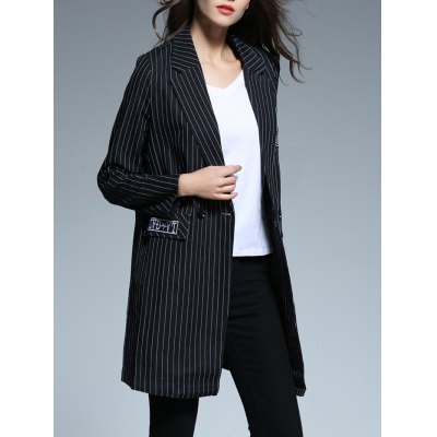 Striped Patched Blazer