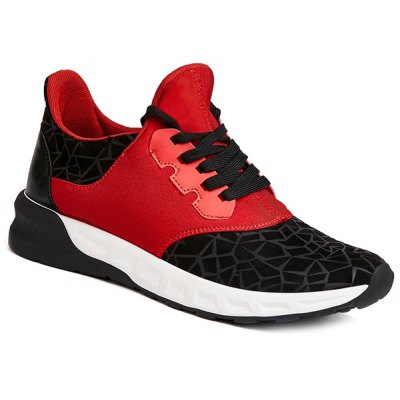 Geometric Print Athletic Shoes