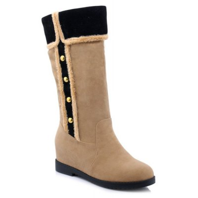 Hidden Wedge Mid-Calf Boots