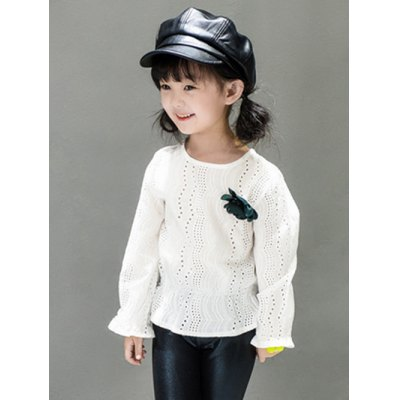 Kids Hollow Out BlouseGirls Clothing<br>Kids Hollow Out Blouse<br><br>Material: Polyester<br>Clothing Length: Regular<br>Sleeve Length: Full<br>Collar: Round Neck<br>Pattern Type: Solid<br>Style: Fashion<br>Weight: 0.103kg<br>Package Contents: 1 x Blouse