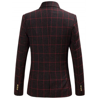 Plaid Ornate Print Lining Flap Pocket One-Button BlazerPlus Size Outerwear<br>Plaid Ornate Print Lining Flap Pocket One-Button Blazer<br><br>Clothes Type: Others<br>Style: Fashion<br>Material: Polyester<br>Collar: Turn-down Collar<br>Clothing Length: Regular<br>Sleeve Length: Long Sleeves<br>Season: Fall,Spring<br>Weight: 0.600kg<br>Package Contents: 1 x Blazer