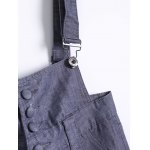 Plus Size Buttoned Overall Pants deal