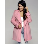 cheap Plus Sized Stand Collar Trench Coat