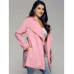 Plus Sized Stand Collar Trench Coat for sale