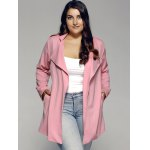 Plus Sized Stand Collar Trench Coat deal