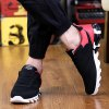 cheap Lace-Up Mesh Suede Spliced Athletic Shoes