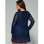 Plus Size Long Sleeve Lace Dress for sale