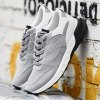 Mesh Suede Spliced Color Block Athletic Shoes deal