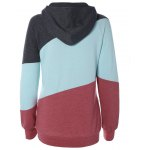 cheap Long Sleeve Patchwork Pullover Hoodie