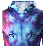 3D Starry Sky and Lion Print Hooded Long Sleeve Hoodie for sale
