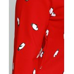 best Plus Size Penguin Print Vertical Pocket Dress