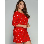 Plus Size Penguin Print Vertical Pocket Dress deal