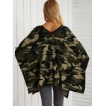 V Neck Lace-Up Camo Print Knitwear for sale