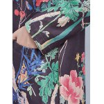Vintage Floral Print Trench Coat photo