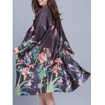 Vintage Floral Print Trench Coat for sale