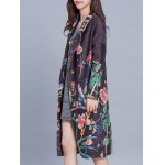 Vintage Floral Print Trench Coat deal