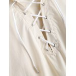 best Casual Hooded Lace Up Side Slit Cape Trench Coat