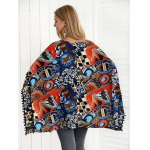 Horn Button Tribal Print Cape Knitwear for sale