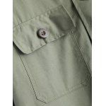 Turn-Down Collar Embroidered Utility Jacket photo