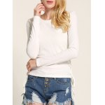 Long Sleeve Side Lace-Up Knitwear