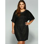 Casual Hollow Circle Plus Size Dress deal