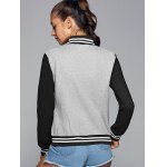 Active Stand Neck Color Block Baseball Jacket deal